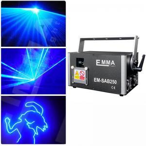 Cheap Newly upgraded Best quality 3 watt blue 3d laser 3w dj lights dmx+ilda+sd+2d+3d single color for sale