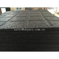 Cheap Anti-slip black rubber pavers crumb flooring for Playground / garden / park for sale