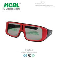Foldable Red Circular Polarized 3D Glasses For 4DX Movie With PE Frame 0.26~ 0.mm Filter Lens