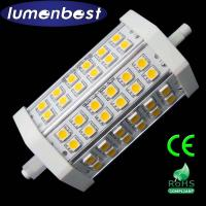 Cheap R7S LED R7S BULB 36SMD(5050)Aluminum+Plastic 7W 118mm(118mm*54mm) for sale