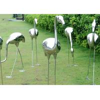Cheap Garden Decoration Polished Stainless Steel Sculpture Crane Sculpture 100cm Height for sale