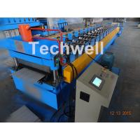 0.3-0.8Mm Thick Color Steel Roll Forming Machine / Pu Panels Cold Rolled Forming Machines Manufactures