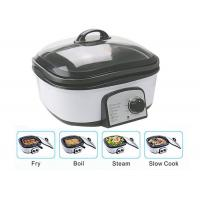 Cheap Slow Small Electric Multi Cooker Glass Cover With Stainless Steel Steamer Rack for sale