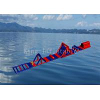 Buy cheap Red Color 0.9 mm PVC Tarpaulin Inflatable Sport Game Water Obstacle Course from wholesalers