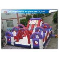 Cheap Outdoor Inflatable Bounce House Games Double Slides For Business Hire for sale