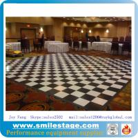 Cheap Custom Black and White PVC Dance Floor Banquet Room Floors for sale