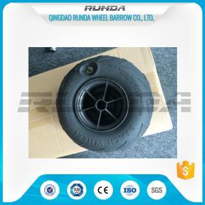 China No Axle Pneumatic Wheelbarrow WheelsPuncture Resistant PVC 230mm*115mm on sale