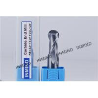 HRC55 TiSiN Coating Ball Nose End Mill High Precision 0.5 UM grain size , AOL 100 mm Manufactures