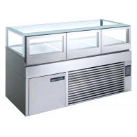 Cheap Right Angle Industrial Refrigeration Equipment Refrigerated Cake Display Cabinet for sale