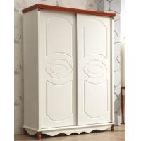 Cheap American Style Mediterranean White Clothes cabinet wooden wardrobe for sale