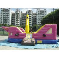 Cheap 7x4 meters children pirate ship inflatable bouncer with EN14960 certified made of lead free material for sale