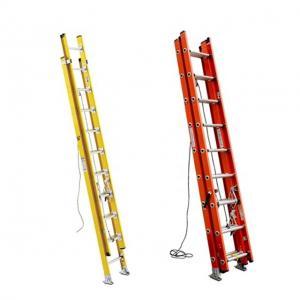 Cheap 10 Meter FRP GRP Fiberglass Telescoping Ladder , Industrial Warehouse Step Ladder for sale