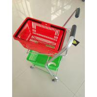 Buy cheap Super Market Shopping Basket Trolley , Flat Casters Double Basket Shopping Trolley from wholesalers