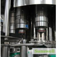 Cheap Fully Automatic Bottled Tea Filling Machine , 3in1 Capping Machine for sale