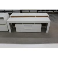 Buy cheap High Gloss White Wood TV Stand / Residential Using Solid Wood Corner TV Cabinet from wholesalers