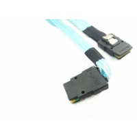 Cheap Self Lock 12Gbps Left Angle 0.5 Meter Internal SAS Cable for sale