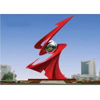 Cheap Large Red Painted Monumental Stainless Steel Sculpture For Outdoor Decorative for sale