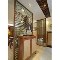 Cheap Hotel , Restaurant Decorative Glass Partitions / Yellow Insulated Glazing Glass for sale