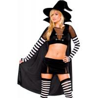 Quality Black Widow Witch Womens Sexy Costumes  Princess Peach Tight Leather Catsuit wholesale