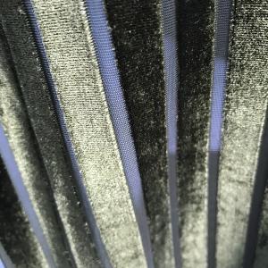 Quality stripe Velvet for garment ,lady garment fabric 100% poly wholesale