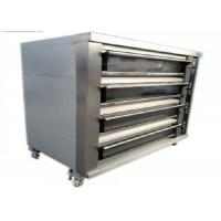 Cheap Biggest Baking Oven 4 Deck 16 Trays Electric / Gas Deck Oven Stainless Steel Digital Control for sale