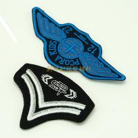 Durable Embroidered Emblems And Patches With Sliver And Gold Thread Design