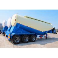 Cheap 40m3 bulk cement tanker semi trailer 50ton load V type silo bulk powder tank trailer for sale