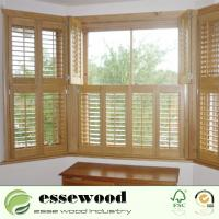 Cheap High Quality Adjustable Wooden Sliding Plantation Shutter for sale
