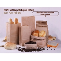Cheap Biodegradable 30gsm Fast Food Paper Bags for sale