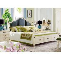 Cheap Room Furniture Bedroom Set Latest Wood Double Bed Design With Storage Box for sale