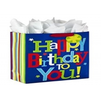 Cheap 100% Recycled Vellum Kids Birthday Bag for sale