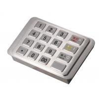 IP65 Dust-free Stainless Encrypting Keypad PCI EPP With Remote Key Loading ( RKL )