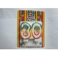 Personalized Glittering Multi - Colored Outline Number 30 Birthday Art Candle Manufactures