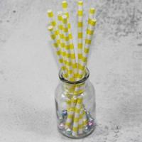 Cheap 6mm 8mm the inside diameter of yellow  color Biodegradable Paper Drinking Straws for sale