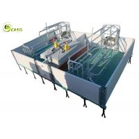 Cheap Galvanized Adjustable Floding Pig Farrowing Crate Plastic Hollow Panel Pig Stall for sale