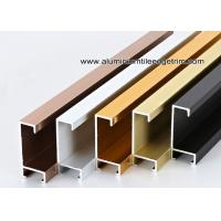 Cheap Metal Type Aluminium Wall Picture Frame Mouldings With Brushed Sides for sale