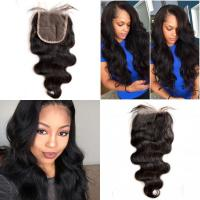 Buy cheap Brazilian Virgin Hair Lace Top Closure Body Wave Free Middle Three Parting from wholesalers