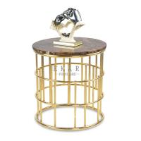 Cheap New Modern Metal Base Round End Table Small for sale