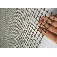 Cheap Multifunction Sand Square Hole 4.8mm Dia Crimped Mesh for sale