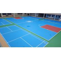 China Synthetic Poured Urethane Gym Floor , Recycled Pulastic Sports Flooring on sale
