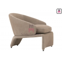 Cheap Fabric Plywood Brass Feet 0.8cbm Upholstered Sofa Chair for sale