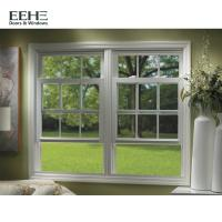 Cheap European Standard 3 Track Aluminium Sliding Windows With Guard Security Bar for sale