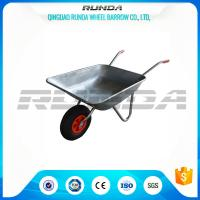 Buy cheap Light Weight Garden Wheel Cart Galvanized Steel Rubber Wheel 80kg Weight Capacity from wholesalers