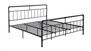 Cheap Black Bedroom Contemporary Oem Steel Tube Bed Frame for sale