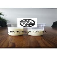 Cheap Chemical Pesticide 10% SC Chlorfenapyr Products 1.53g / cm³ For Harmful Insect for sale