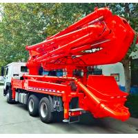 6x4 HOWO Cement Boom Truck , 37 / 39 Meter Boom Height Cement Pump Truck