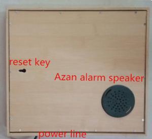 Cheap New Design Azan Clock, High Quality Azan Clock ,wood Azan alarm clock  ,salah clock,Muslims clock for sale