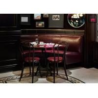 Cheap Leather Cafe Bench Restaurant Sofa Set Custom Round Banquette For Five Start Hotel for sale