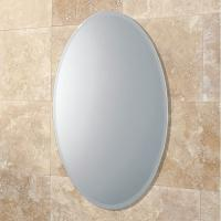 Cheap Bevelled Edge 4mm Oval Large Round Mirrors Round For Bedroom , ISO9001 for sale
