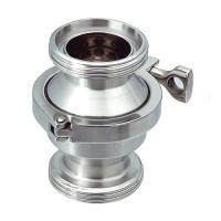 Cheap Sanitary SS316L Threaded Non return Check Valve With Clamp type Connection for sale